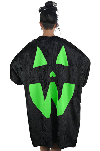 Velvet Pumpkin Cape - Neon Green (Limited!)