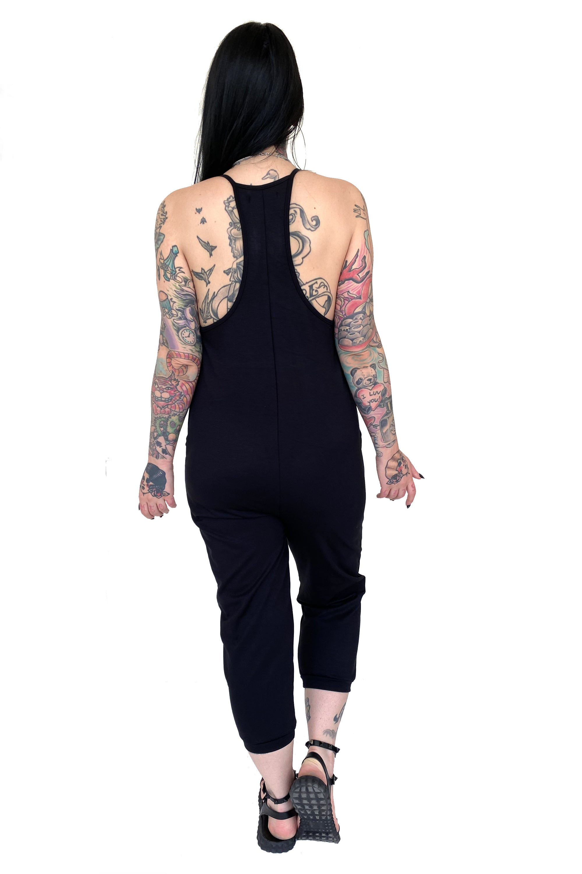 Luna Razorback Jumpsuit WITH POCKETS!