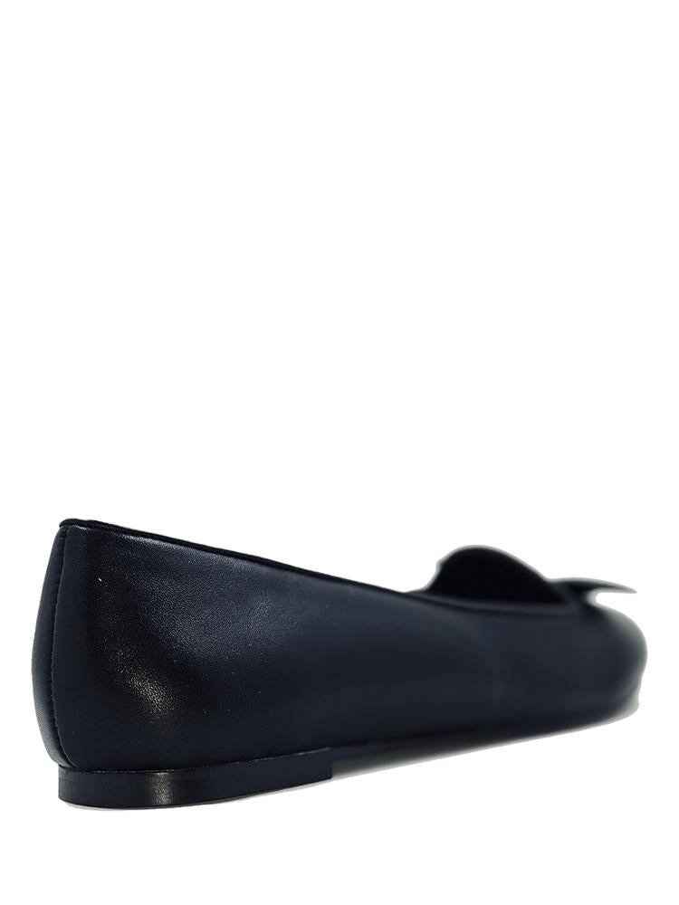 Lydia Bat Flat All black