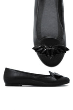 Lydia Bat Flat All black - size 5 & 6 left!