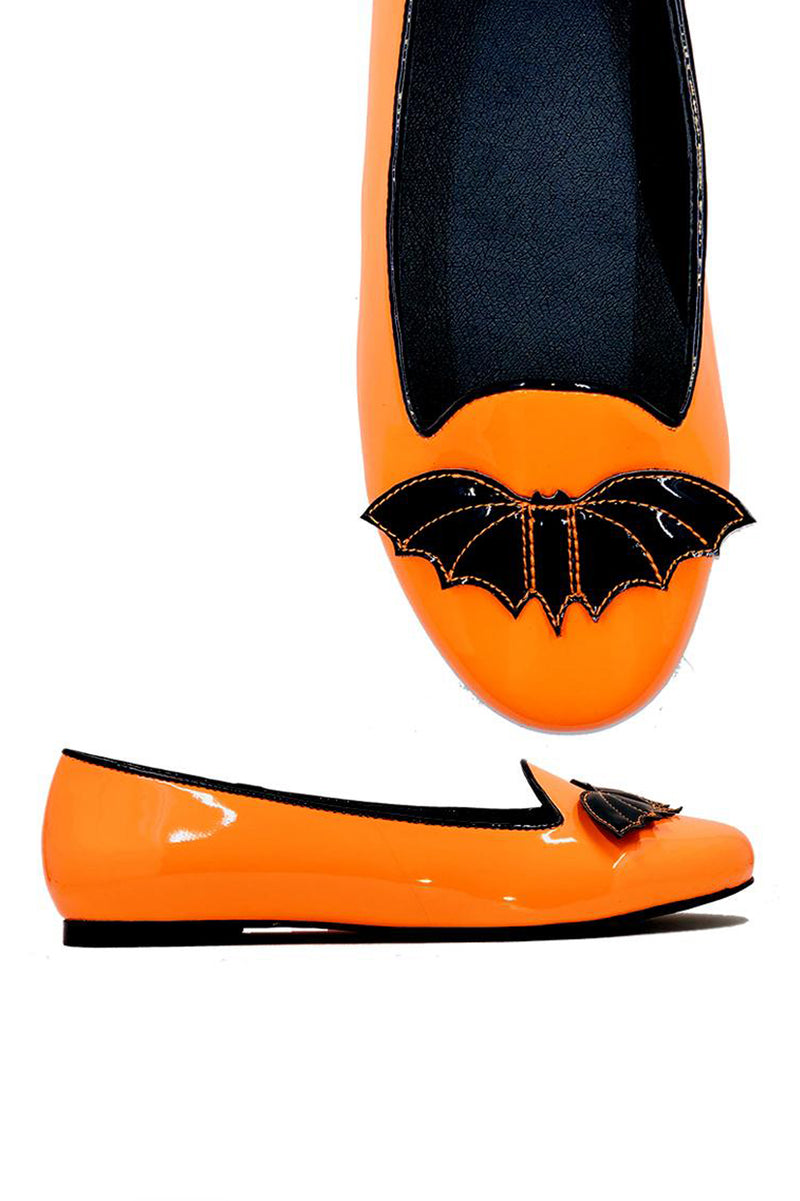 Lydia Bat Flat Orange - Size 6 / 10 / 11 left!