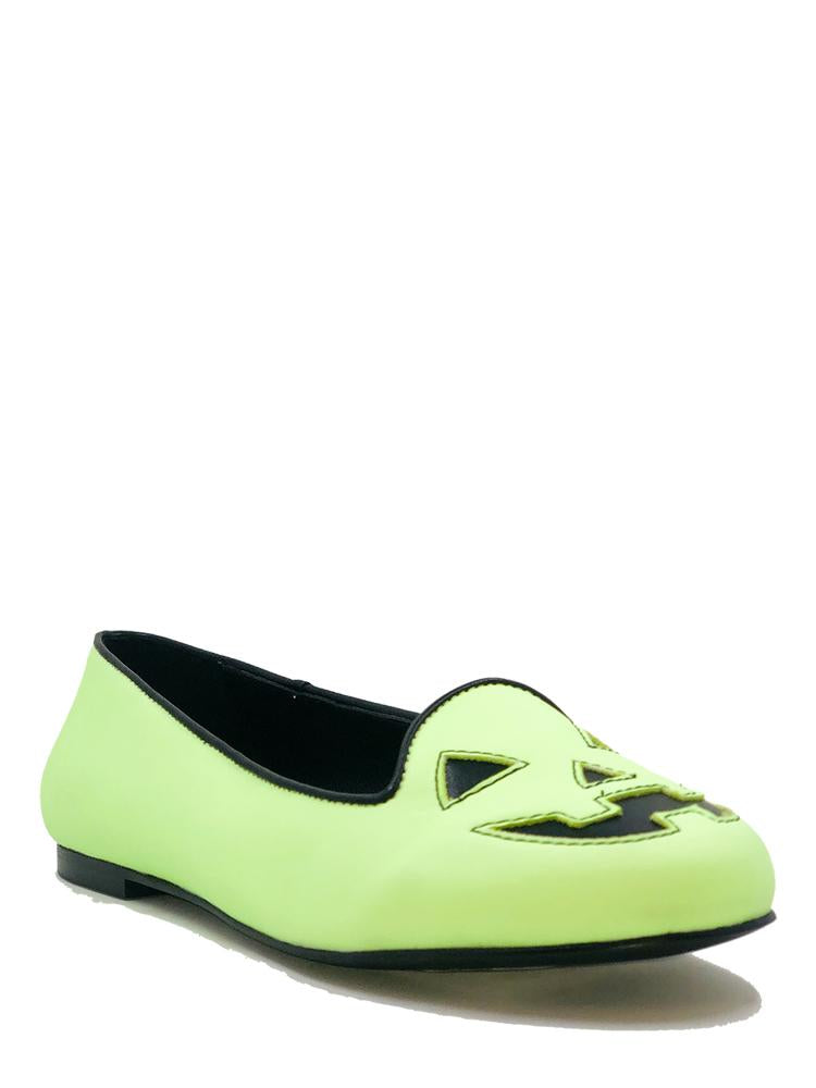 Jack-o-lantern Flats - Glow-In-The-Dark Green. Size 6/7/11 left!