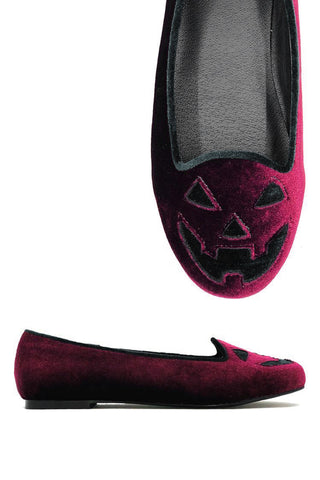 Holiday Velvet Jack Flats