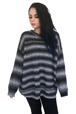 Nightmare Tunic Sweater - Greyscale LIMITED - NO RESTOCK
