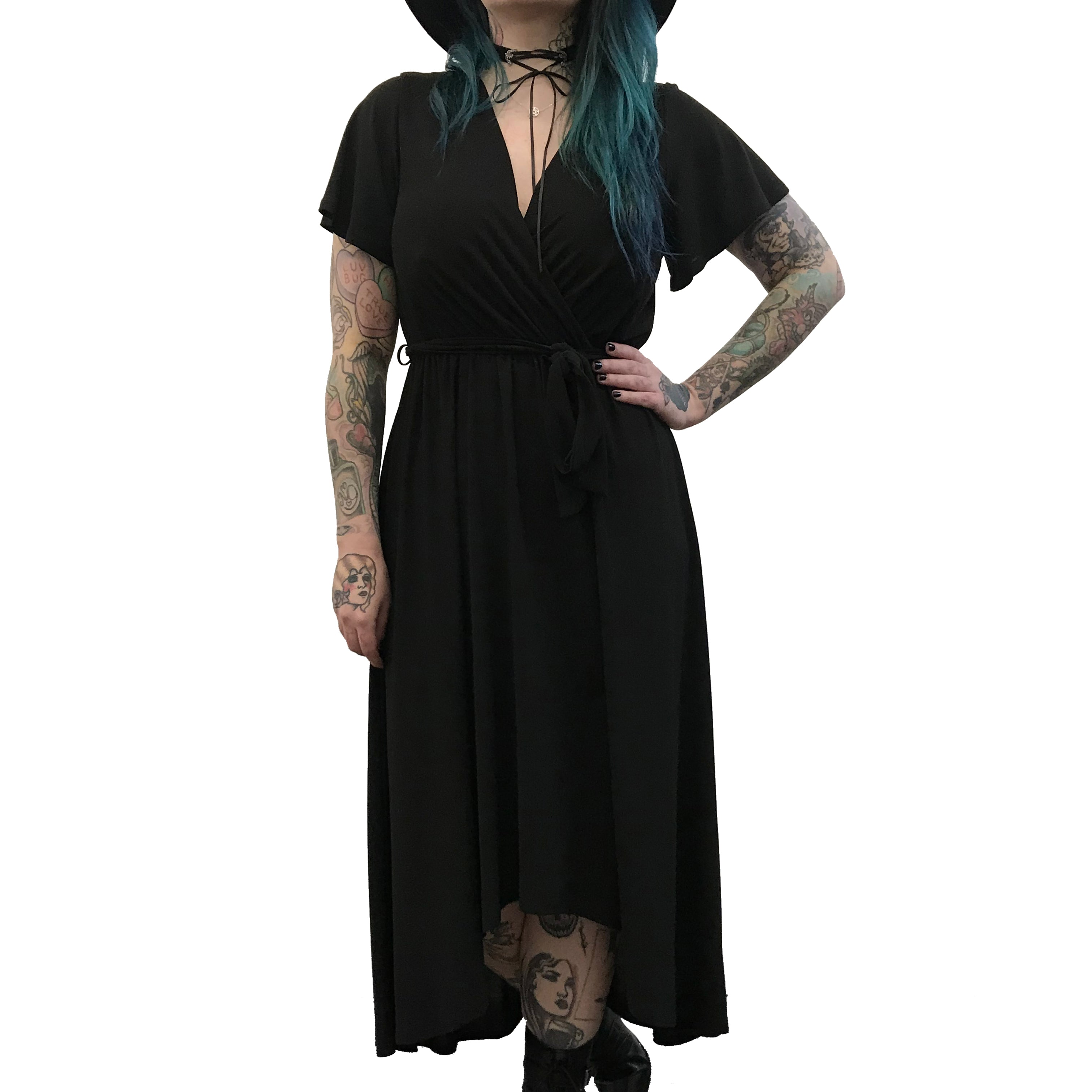 High Low Maxi Wrap Dress (S-3XL)