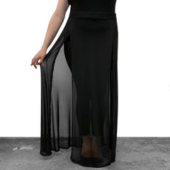 Mesh High Slit Maxi Skirt (S-3XL)