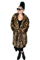 Alabama Worley Leopard Faux Fur Jacket -Limited
