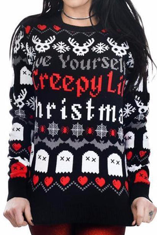 Creepy Lil Christmas Sweater