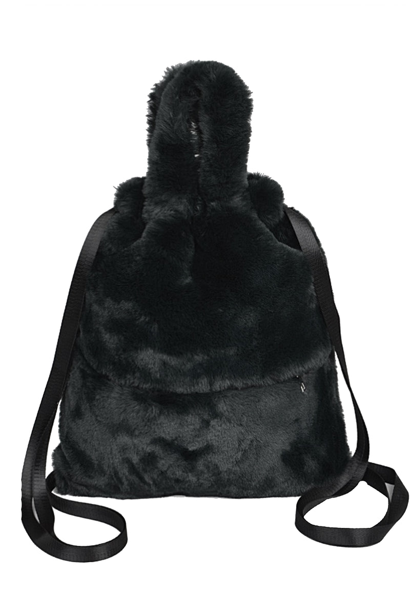 Amber Convertible Fuzzy Backpack/Purse