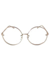 Bey Large Round Wire Sunglasses - Gold