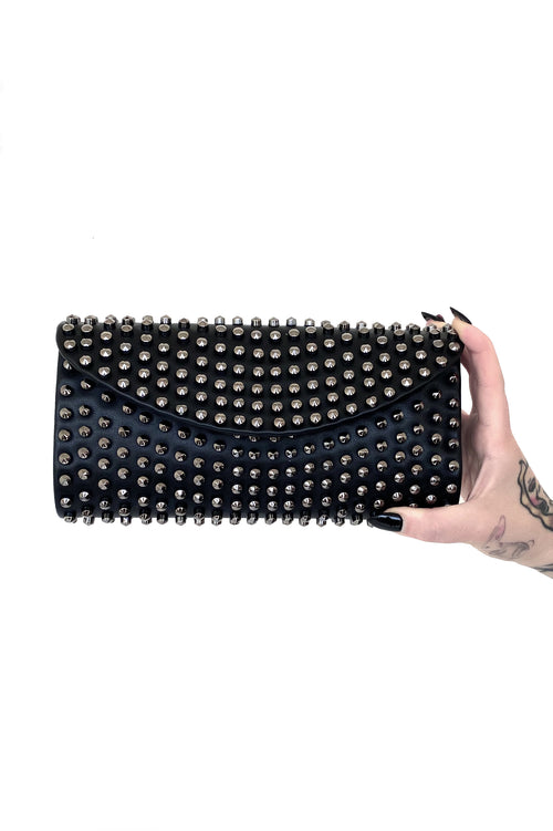 Hard Love Studded Envelope Crossbody Bag