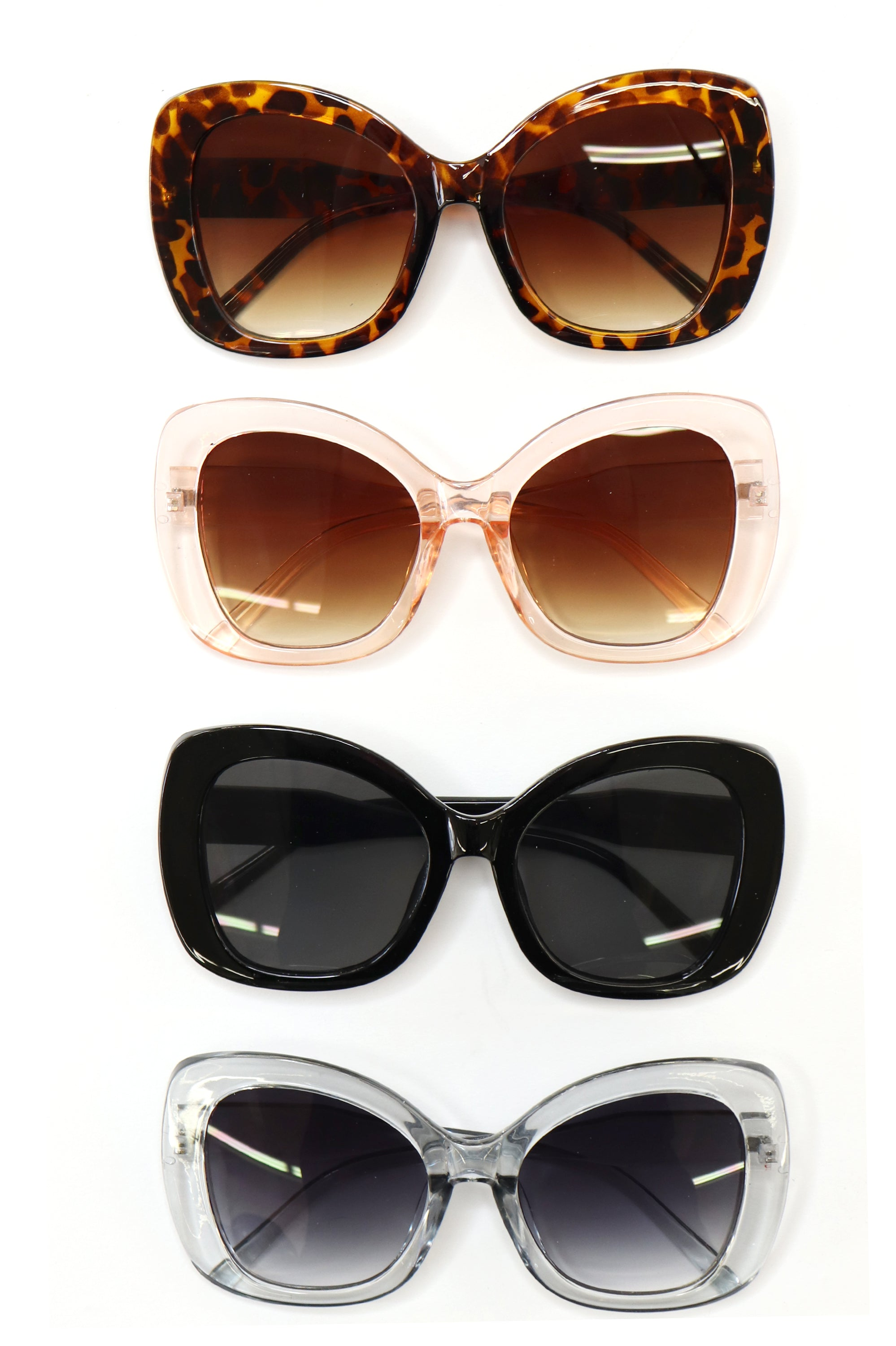 Oversized Butterfly Shaped Sunglasses