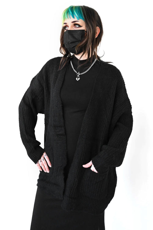 Black Cloud Cardigan Sweater