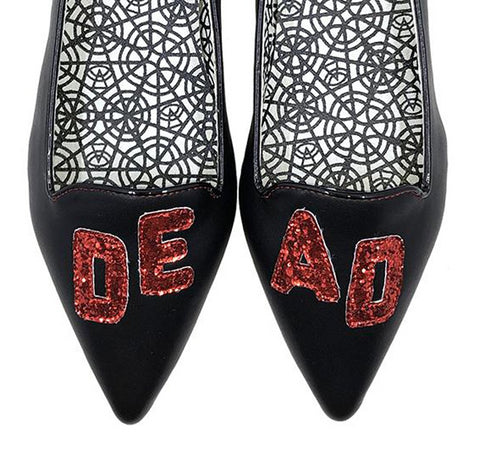 Dead But Still Cute Flats in Red - size 11 left!