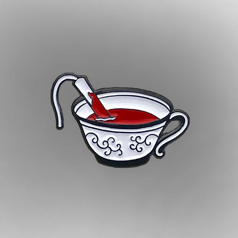 Tampon In A Teacup - Enamel Pin