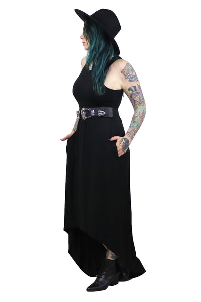 High Low Maxi Dress With Pockets