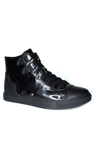 All Black Chelsea High Top Sneakers (vegan)