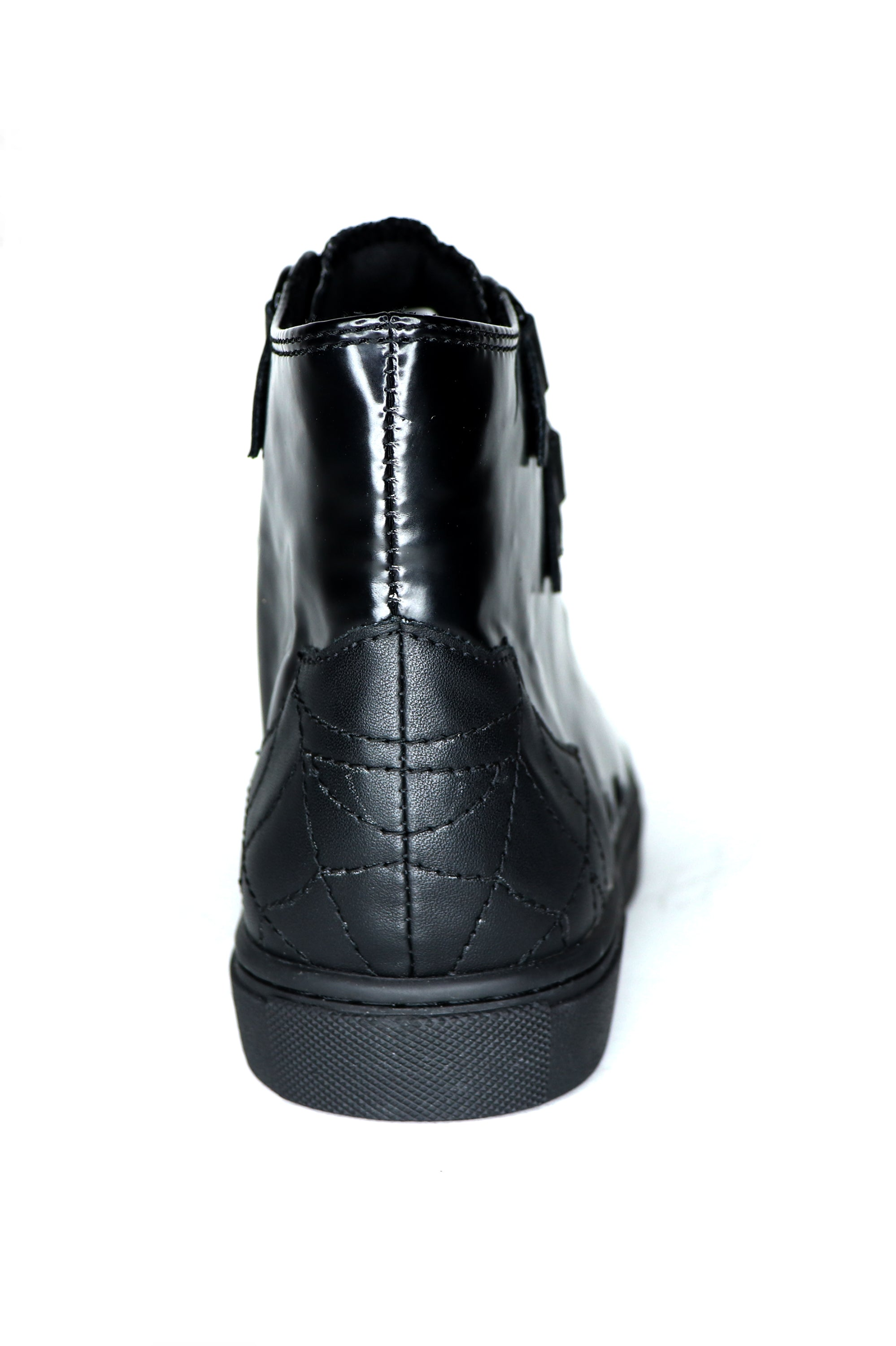 All Black Chelsea High Top Sneakers (vegan) - size 6 & 7 left!