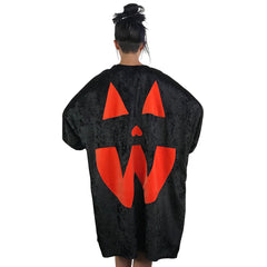 Velvet Pumpkin Cape - Black/Orange