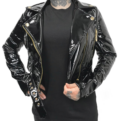 The Nancy PVC Motorcycle Jacket