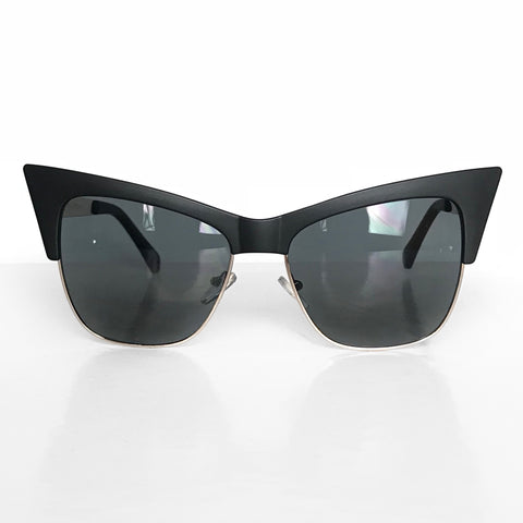 VAMP Cateye Sunglasses- Matte Black