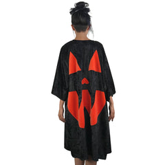 Velvet Pumpkin Kimono - Black/Orange (Last one!)