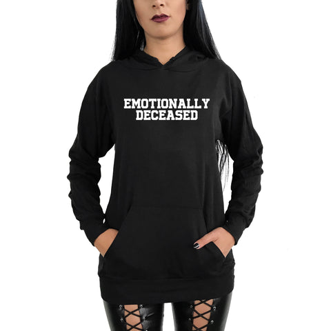 Emotionally Deceaded Pull Over Hoodie (Unisex)