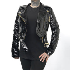 The Nancy PVC Motorcycle Jacket (1 Small Left!)