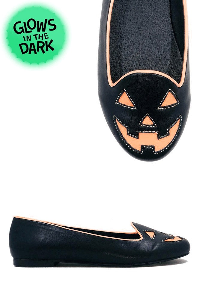 Jack-o-lantern Flats - Black/Orange Glow in the dark