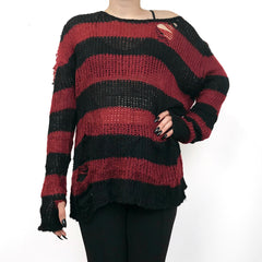 Shreddy Freddy Tunic Sweater - Red / Black - BACK IN STOCK!