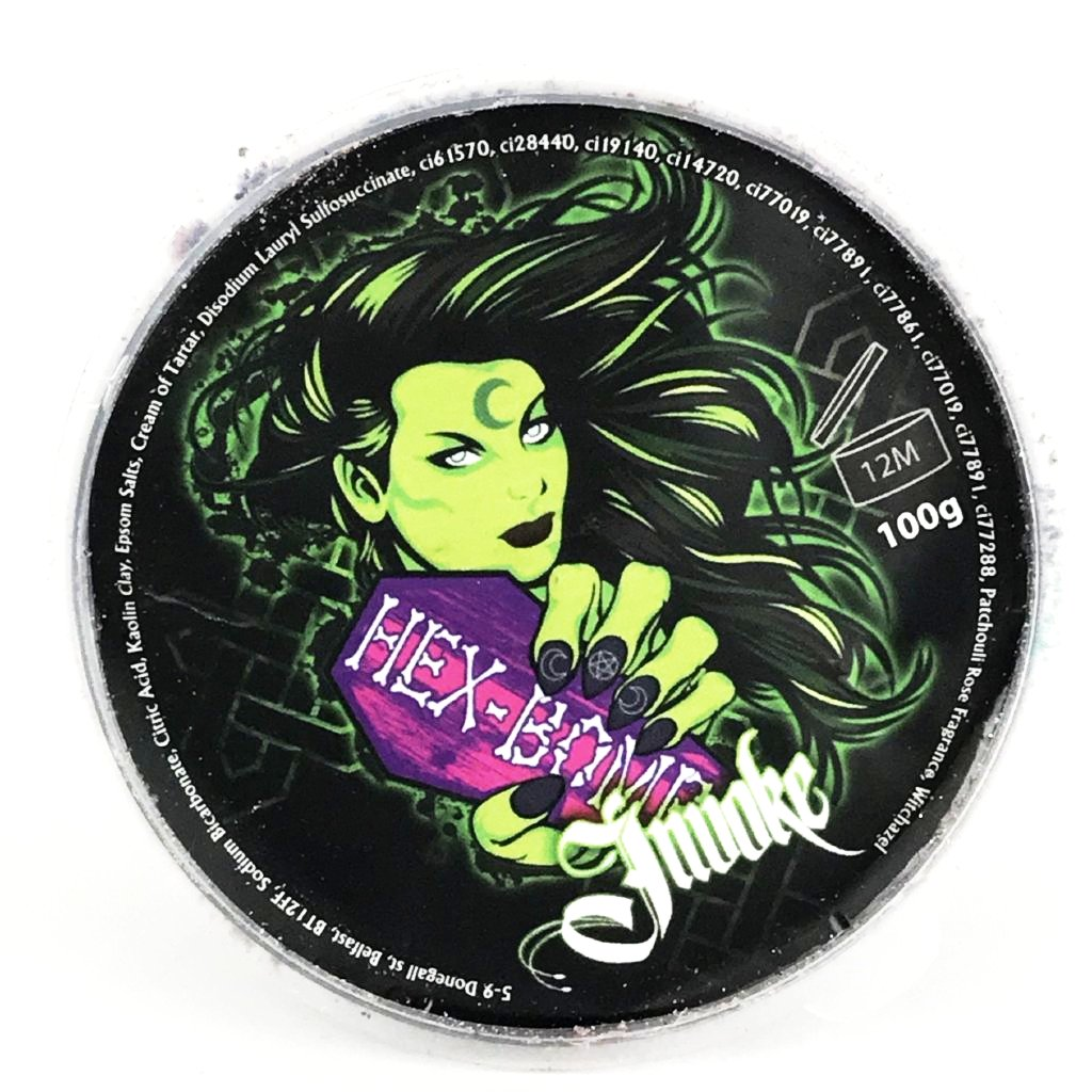 HEX BOMB - Invoke, metallic black & green bath bomb.