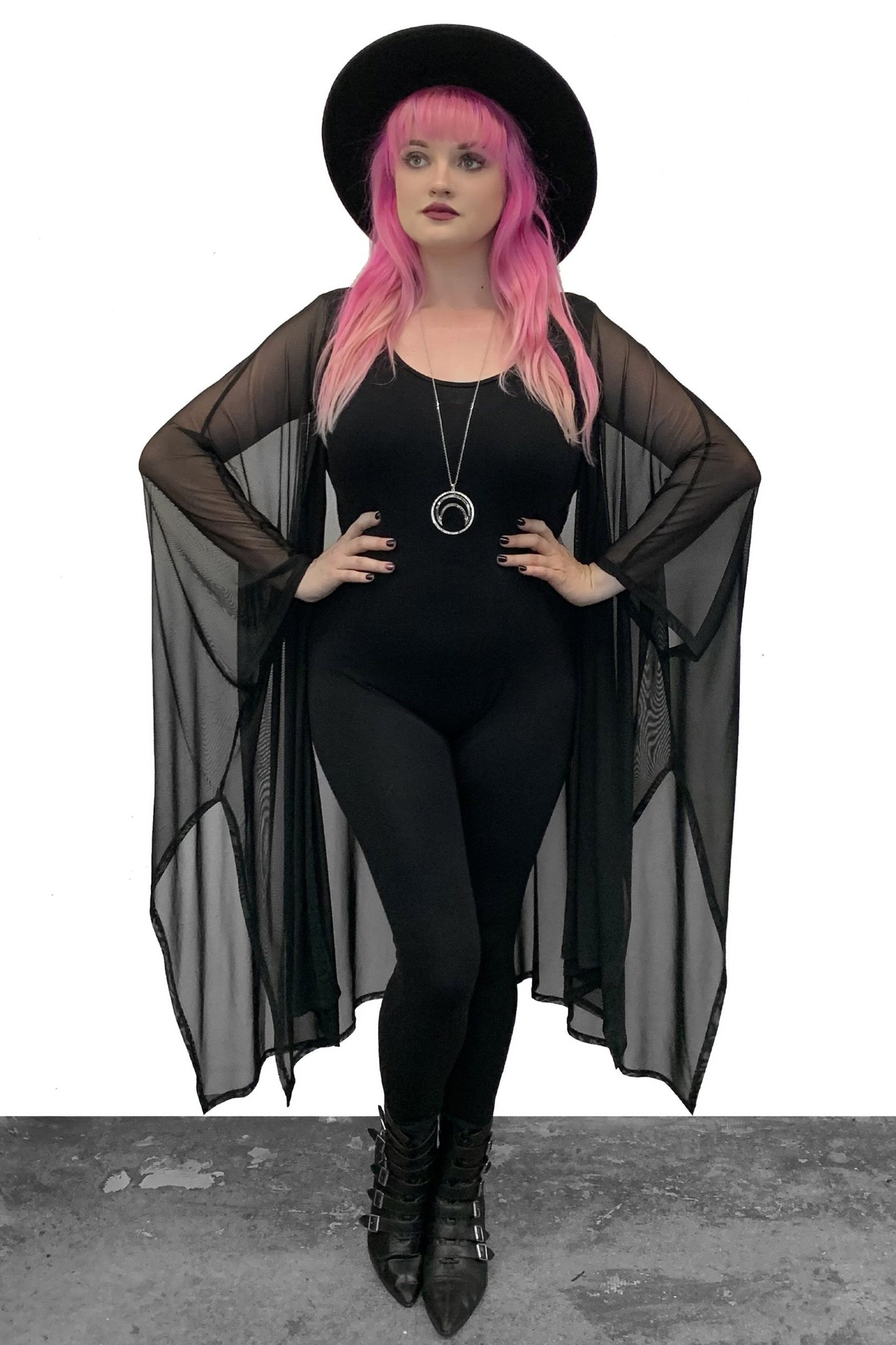 Lilith Mesh Oversized Cloak