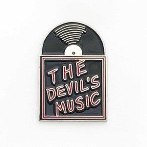 The Devil's Music Vinyl Record - Enamel Pin