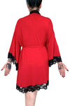 Short Bathory Dressing Robe - Cherry Red -Only S/M left!