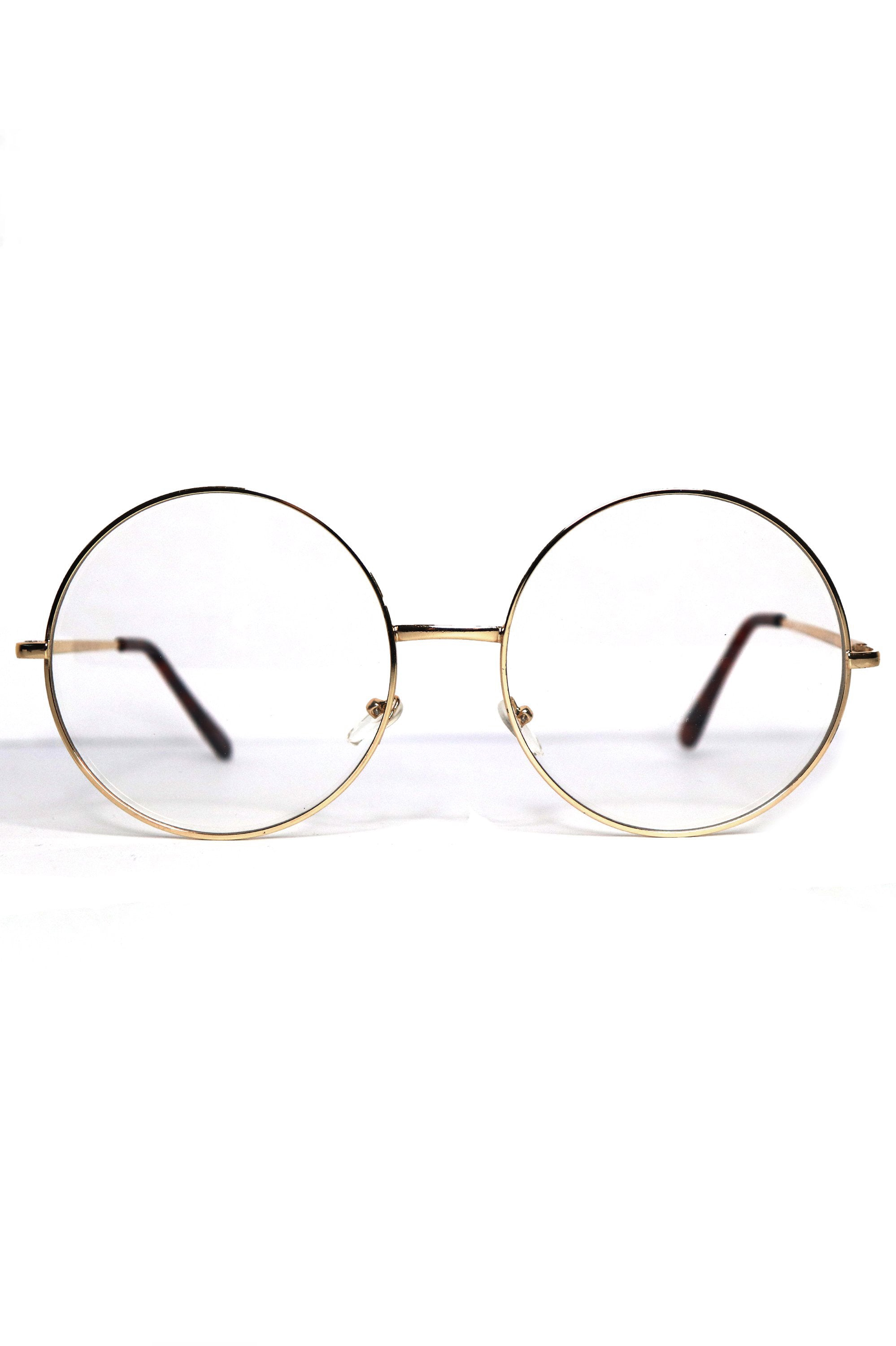 You're A Wizard! Large Round Wire Sunglasses - Gold