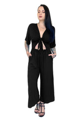 Summer Nights Tie Top Jumpsuit