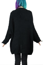Waffle Oversized Sweater with Pockets!