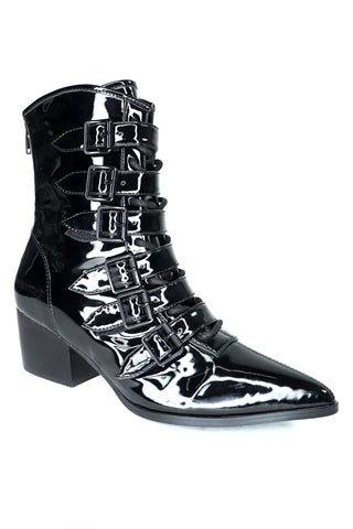 The Coven Boot - Shiny PVC Black
