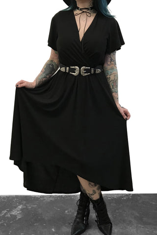 High Low Maxi Wrap Dress