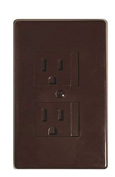 Self-Closing Single Screw Outlet Covers (Espresso)