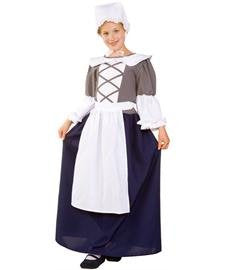 RG Costumes Colonial Peasant Girl, Child Medium/Size 8-10