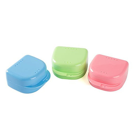 Easyinsmile 3 PCS Dental Orthodontic Retainer Denture Storage Case Box Mouthguard Container L size