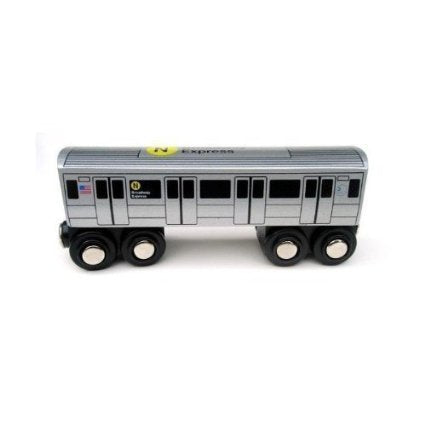 Munipals NYC Subway N Car Toy Train Wooden Railway Compatible