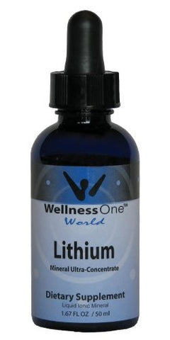 Lithium - Premium Liquid Ionic Mineral (100 days at 500mcg per 10 drops) 50 ml bottle