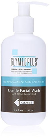 GlyMed Plus Age Management Gentle Facial Wash, 8 Ounce