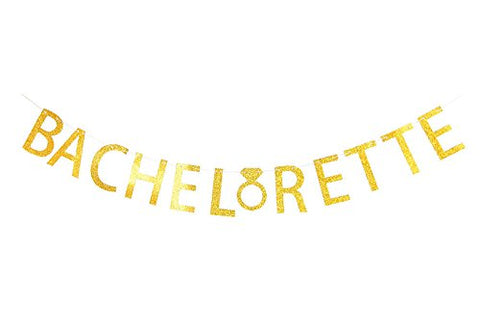 LOVELY BITON Gold Bachelorette Letters Banner Decoration Kit Themed Party Banner for Birthday Wedding Showers Photo Props Window Decor