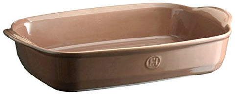 Emile Henry 969654 France Ovenware Ultime Rectangular Baking Dish, 16.5 x 10.6, Oak