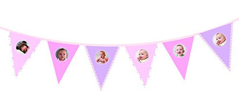 Pearhead 1st Birthday Photo Garland, Pink
