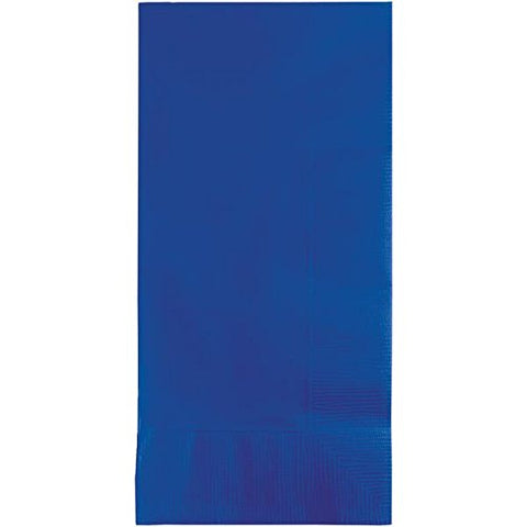 Creative Converting 319028 100 Count 1/8 Fold Dinner Napkins, Cobalt