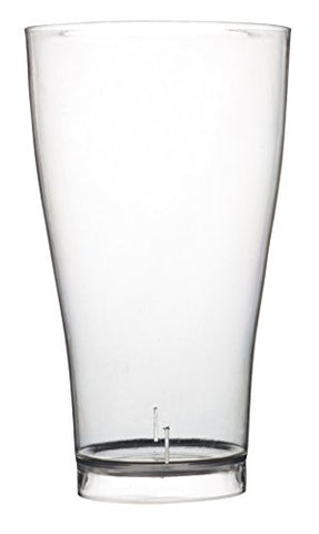Quenchers Clear Polystyrene Pilsner Drinking Glass (Case of 60), 14 oz